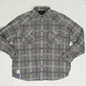RocaWear Big & Tall 2XL Brown   Button Down Cotto